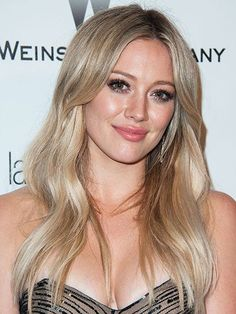 Celebrity Hair Changes - Hilary Duff soft, ashy blonde | allure.com