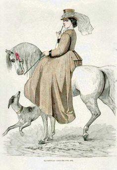 Costume d'équitation - 1862 Victoria et Elizabeth