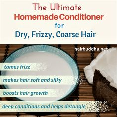 Coconut milk is a natural hair conditioner for dry coarse hair. It leaves hair soft, silky and bouncy in minutes. Here's how to use