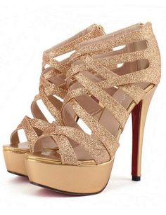 I love shoes! I love wearing them, buying them, and just looking at them. These Shoes Are Sexy Metallic Gold Strappy High Heel Pumps Gold Strappy High Heels, Black High Heels, High Heel Pumps, Pumps Heels, Stiletto Heels, Gold Sandals, Sexy Heels, Platform Pumps, Gold Pumps