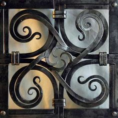 Decorative Grill from Blacksmith's Journal Design by Hammerfest Forge
