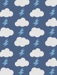 This design with clouds & lightning bolts is the perfect pattern for your kid's space! Rainbolts Designer Fabric by Aimée Wilder. Sold by the yard. Materials: 100% Cotton Sailcloth, Fine Belgian 50/50