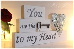 erhältlich hier: http://de.dawanda.com/product/75833267-you-are-the-key-to-my-heart---valentinstag Valentinestag, Liebe, Love, Haldarbeit, Holz, Silvi K.
