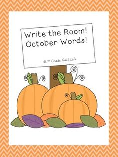 Write the Room! October Words!