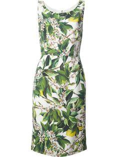 Dolce & Gabbana Sleeveless Floral Dress - Boutique Antonia - Farfetch.com