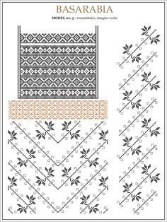 Semne Cusute: iie din BASARABIA, Transnistria - desen dupa fotografie (3) Embroidery Sampler, Folk Embroidery, Embroidery Patterns, Knitting Patterns, Cross Stitch Borders, Cross Stitching, Cross Stitch Patterns, Palestinian Embroidery, Handmade Bags