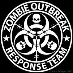 $9.95 Zombie Outbreak Response Team Vinyl Decal, Truck and Car Window Sticker, 12x12 inches, White Vinyl Designs,http://www.amazon.com/dp/B00HHN12GY/ref=cm_sw_r_pi_dp_dkoetb1B4JFA95SC