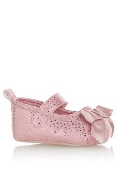 Buy Pink Bow Bar Shoes (0mth-2yrs) from the Next UK online shop