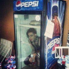 Jayy in a pepsi fridge lol