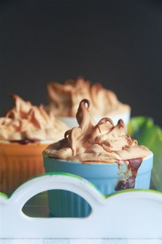 Crumbs and Cookies: banana caramel pudding with meringue topping.