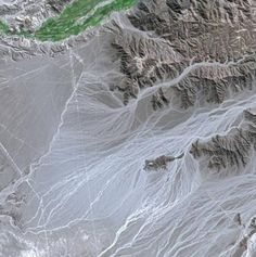 The incredible, Nasca lines of Peru - seen from SPOT Satellite.