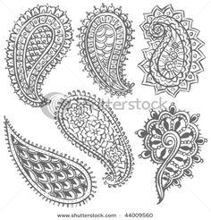 paisley variety  (Assortion of paisleys; inspiration to beads)  - inspiration for paisley beading 2