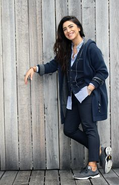 Brunello Cuccinelli in der Trendfarbe Blau  #brunellocuccinelli #herbst #blau #fashion #style #trend #cozy