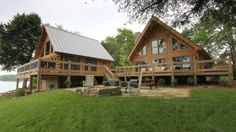 View photos of log homes and log cabins from Southland Log Homes. Be inspired to design your own!
