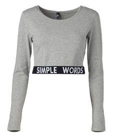 Trikoopaita Simple Words, Long Sleeve, Sleeves, Mens Tops, T Shirt, Fashion, Supreme T Shirt, Moda, Tee Shirt