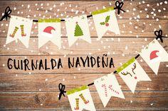 Printable gratis: guirnalda navideña clásica - Las cosas de Maite