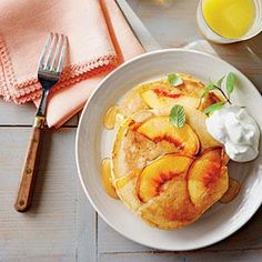 Sweet Peach Pancakes.