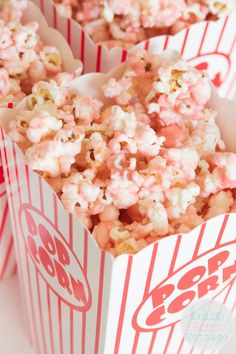 Blue Robin Cottage: Old Fashioned Pink Popcorn recipe Popcorn Recipes, Snack Recipes, Snacks, Sweet Recipes, Pink Lady, Yoonmin, Pink Popcorn, Colored Popcorn, Handmade Halloween Costumes