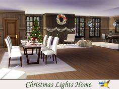 evi Christmas Lights Home Big Kitchen, Electronic Art, Enjoy It, Christmas And New Year, Second Floor, Christmas Lights, Dining Room, Flooring, Home