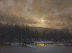 Landscape Lighting, Landscape Art, Landscape Paintings, Landscapes, Autumn Lights, Green River, Oil Painters, Winter Solstice, Freelance Illustrator