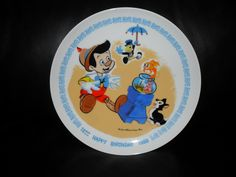 1980 Disney Happy Birthday Pinocchio Collector Plate