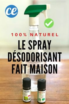 How I make my Natural Deodorant Spray (in 1 Min Chrono). Diy Deodorant, Natural Deodorant, Aide Ménagère, Spray Bottle, Aromatherapy, Cleaning Supplies, Saving Money, Life Hacks, Fragrance