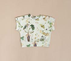 Herbarium baby raglan t-shirt, toddler t-shirt, baby boy t-shirt, baby girl t-shirt, t-shirt print, kids t-shirt, boho baby clothes, plants