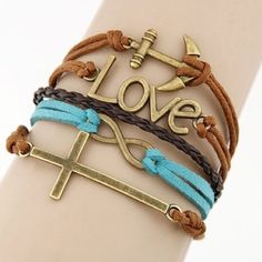 Blessed Cross Amor Love Infinity Bracelet This fashionable Multi Strand Infinity Bracelet is the perfect accessory for any outfit and would make the perfect gift for friends and family or an extra special treat for yourself! – Multi strand bracelet attached with a metal clasp– All orders shipped the same day! Jewelry Bracelets