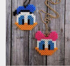 Daisy and Donald Duck perler bead