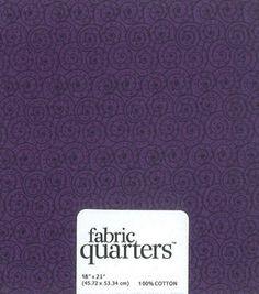 Fabric Quarters Assorted Fabric Purple