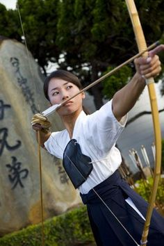 Japanese art of archery - kyudo. I would love to study this someday. Photo by JOSS from Honolulu Magazine.:
