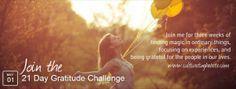 21 day gratitude challenge starts May 1 2014