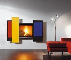Mondrian Décor, Wall Fireplace