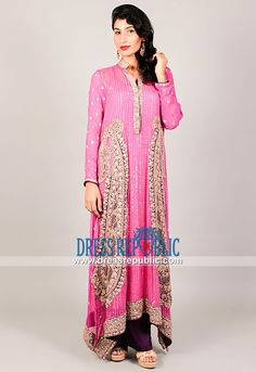 Pakistani Designer Light Pink Bridesmaid and Party Dresses Online