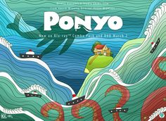 Love this art from Ponyo