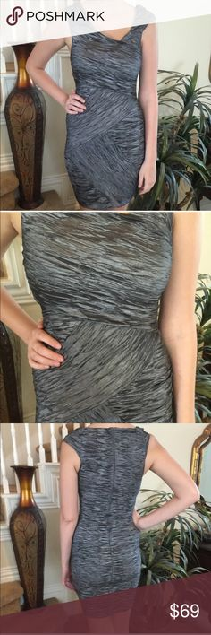 🍸Graphite Romeo & Juliet Couture Bandage Dress 🍸 This form fitting beauty by Romeo & Juliet Couture is ready to show off you curves at the next cocktail hour or dinner date... Subtle Metallic Shade of Graphite Gray is Both Classy AND Sexy! Fab photo credit to my PFF! Romeo & Juliet Couture Dresses Mini