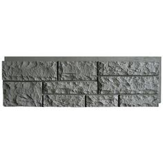 NextStone Volcanic Gray Random Rock Faux Stone Veneer Panels - to cover house foundation
