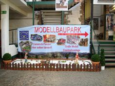 Banner von bannerstop.com für den Modellbaupark in Monschau.