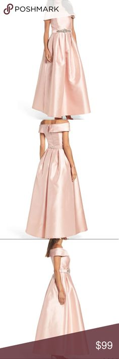 New Arrival  💗Eliza J Belted Mikado formal gown Stunning gown which is classically gorgeous. Color is blush. I am offering a very good price💗.No trades. Eliza J Dresses