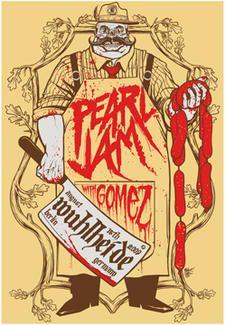 Pearl Jam, Berlin, Germany Poster Art by Munk One www.MunkOne.com