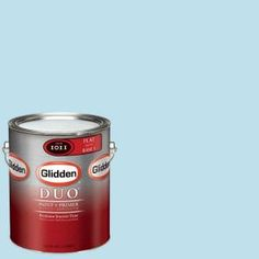 Glidden DUO 1-gal. #GLB15-01F Clear Blue Sky Flat Interior Paint with Primer-GLB15-01F at The Home Depot