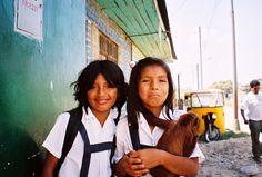 Peruvian school girls of the Amazon