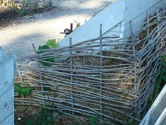woven twig walls/fences