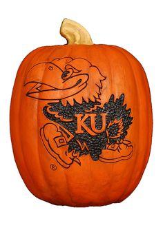 Kansas Jayhawks Small Resin Pumpkin