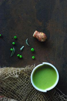 aardpeer - erwtjes soep met salie