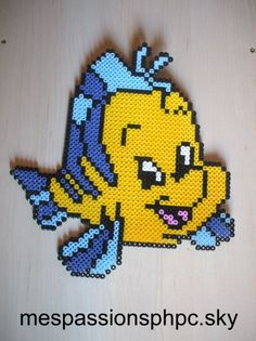 Flounder The little Mermaid hama perler by mespassionsphpc