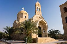 This church, near the Jordan River, is built right at the spot where, according to tradition, John baptized Jesus.