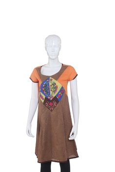 Women's Short Sleeve Kurta - w11ciwk944