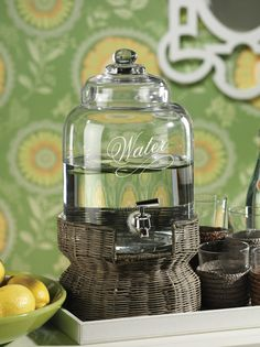 Water Beverage Dispenser #home #homedecor #decor #entertaining #water #beverages #interiordecorating #decorating #party #barbecue http://www.carlyleavenue.com/collections/whats-new/products/water-beverage-dispenser