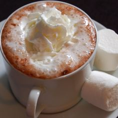 A Lovely recipe for the perfect hot chocolate. Served with whipped cream and marshmallows.. The Perfect Hot Chocolate Recipe from Grandmothers Kitchen.